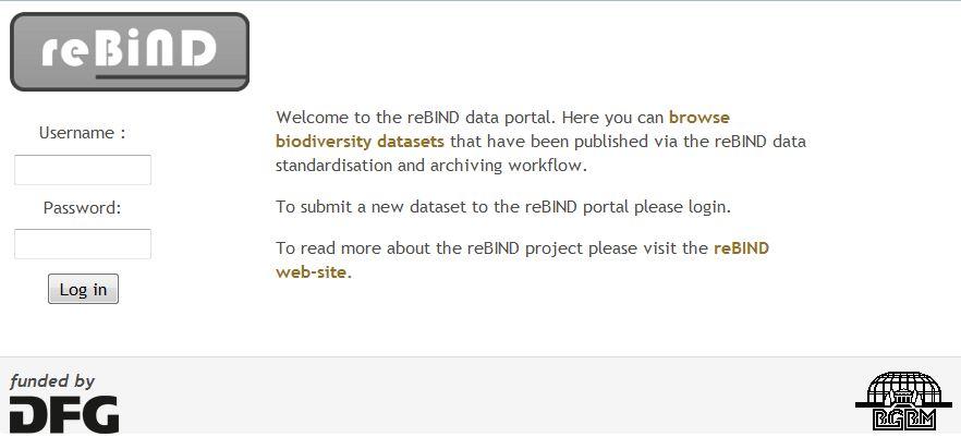 reBiND Portal screenshot